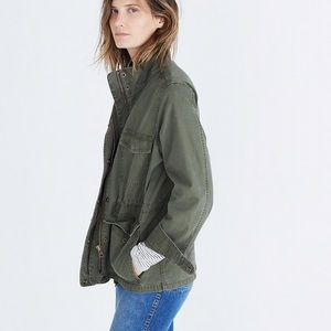 Madewell Surplus Utility Jacket Olive Green Small